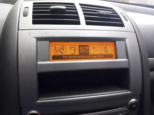 Support d'origine usine USB double zone air Bluetooth affichage jaune moniteur 12 broches pour Peugeot 307 407 408 citroën C4 C5 écran