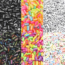 100Pcs Mixed Colorful Letter Acrylic Beads 15mm For Jewellery Marking Loose Spac