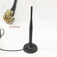 100 шт. DexMRtiC 2,4 ГГц 6dbi антенна wifi Магнитная bse с 1,2 м удлинитель RP SMA разъем штекер Wi Fi антенны