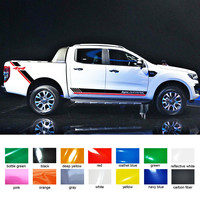 free shipping 4 PC car accessories decals side door rear trunk 4X4 stripe graphic Vinyl car stickers for Ford ranger 2012 2017
