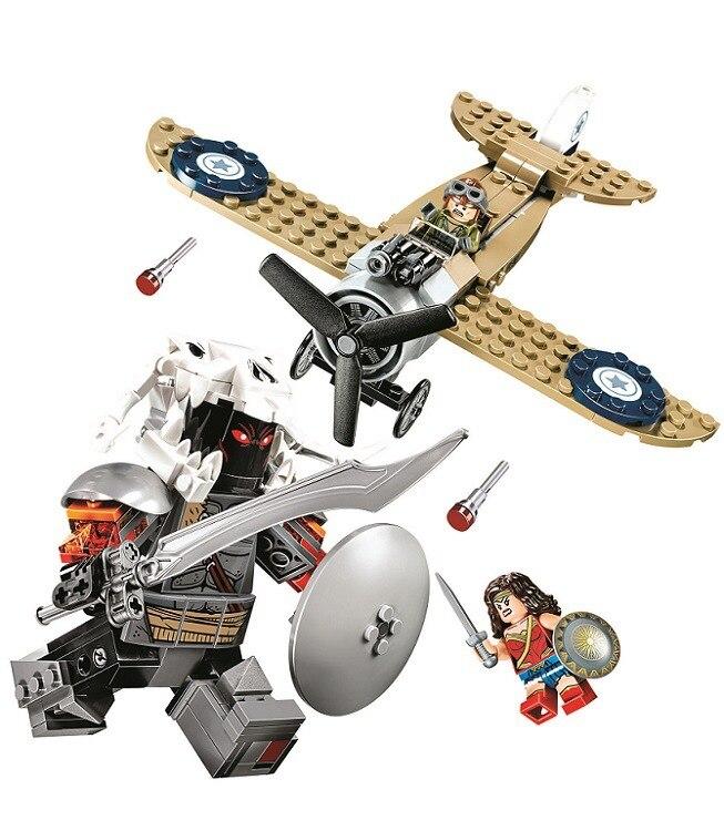10744 Супер Герои DC чудо-женщина-воин битва строительные блоки DIY образования Кирпичи игрушки для детей совместимы с 76075