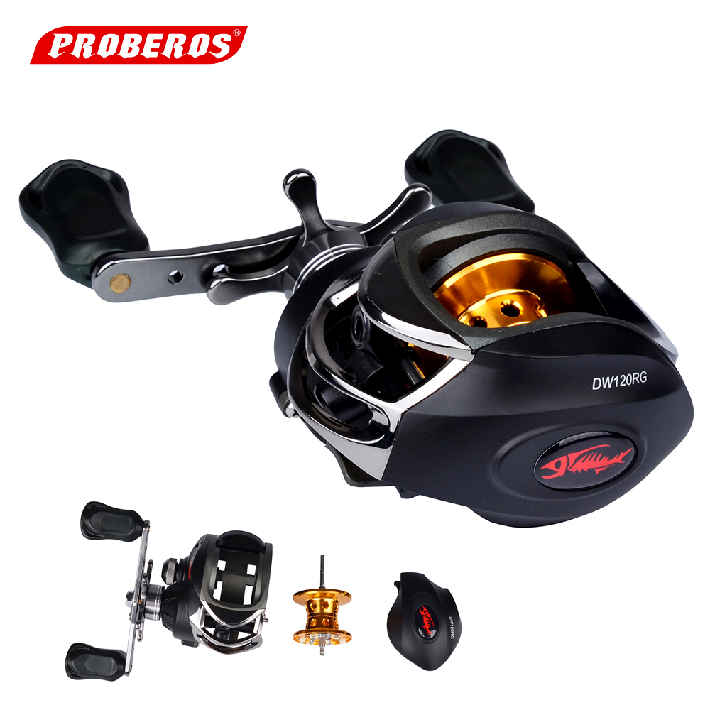 [PROBEROS] Fishing Reels 6.3:1 Bait Casting Reels Left Right Hand Fishing Centrifugal Brake Baitcasting Reel Max. Drag 4.5kg trulinoya baitcasting fishing reel right left 6 6 1 9 1bb max drag 6kg magnetic centrifugal dual brake bait casting fishing reel