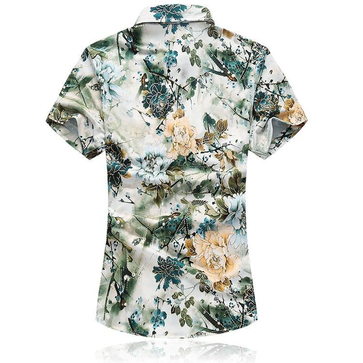 Këmisha të shkurtra me mëngë të shkurtra ZhenZhou Floral Plus - Veshje për meshkuj - Foto 2