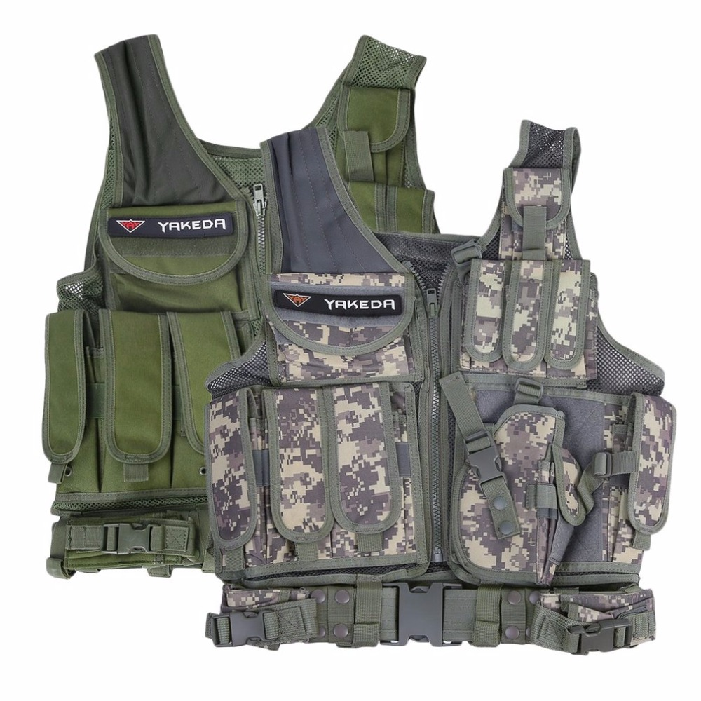 Police Tactical Vest Outdoor Military Body Armor Wear Hunting Vest Army Swat Molle Vest Camouflage/Army Green Free Shipping police armor pl 14378jsr 12p