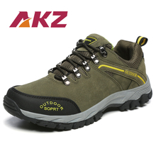 AKZ Mens Casual Shoes New Autumn Winter High Quality Suede Work shoes Round Toe Male Outdoor Climing shoes Non-slip Breathable цена 2017
