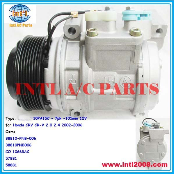 38810 PNB 006 38810PNB006 CO 10663AC 57881 58881 For DENSO