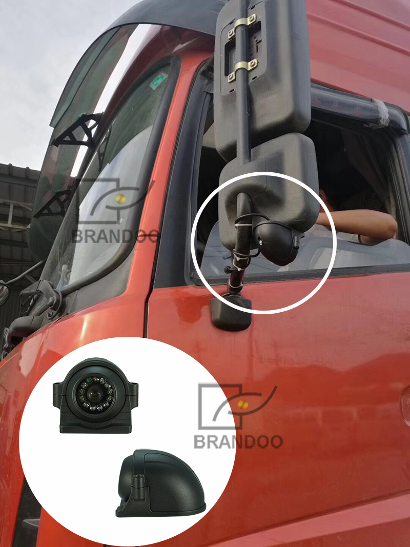 side view camera installed on truck