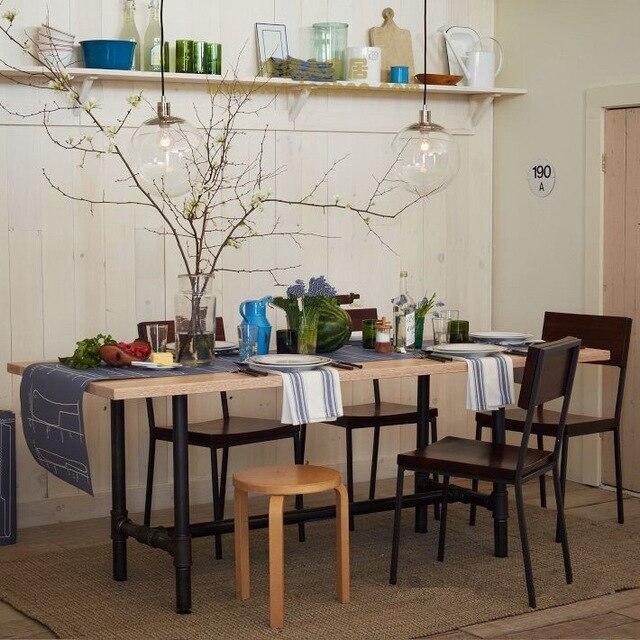 hierro americano retro muebles de madera mesas mesa de restaurante mesa de la cocina a