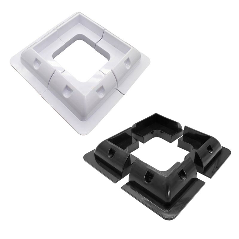 4Pcs/Set ABS Edges Solar Panel Mounting Brackets White Corner Set Kit For Yacht/Solar Panel Corner Bracket RV Accessories New