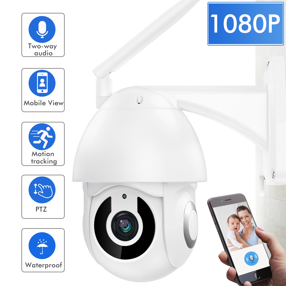 SDETER 1080P Wifi Camera Outdoor PTZ Speed Dome Wireless IP CCTV Security Camera Pan Tilt Zoom IR Two Way Audio Camera Exterior