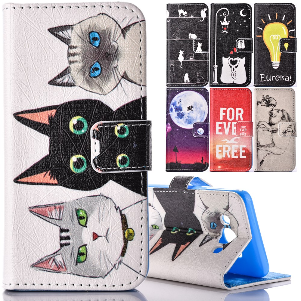 For Samsung Galaxy J1 J3 J5 2016 Case Wallet PU Leather Phone Cover Cute Cat Pattern For Samsung Galaxy J120 J510 J310 Coque