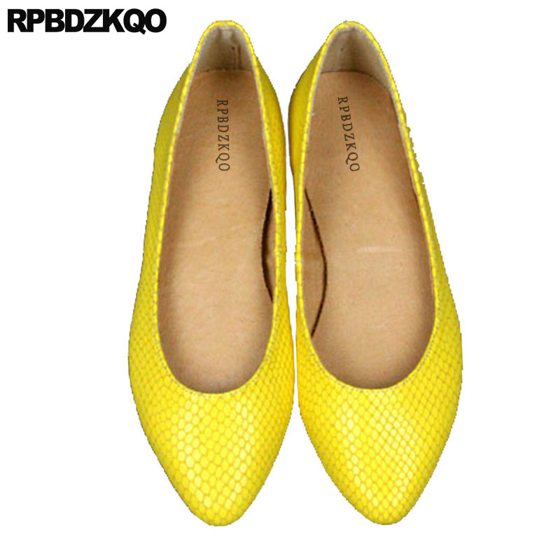 цены Yellow Chinese Wedding Shoes Flats Pink Office Snake Slip On Party Candy Pointed Toe Size 41 China Large Designer Vintage Women