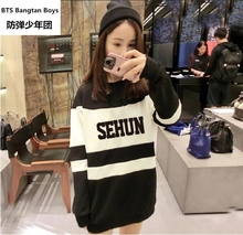 Kpop exo terra Sehun Xiumin kar Baekhyun label women hoodies Sweatshirt harajuku exo k-pop tops Fall Winter