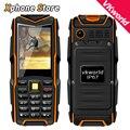 Русский Английский Клавиатура VKWorld Stone V3 Водонепроницаемый Dropproof Пыле 2.4 дюймов Мобильный Телефон 6531CA GSM Мобильный Телефон FM