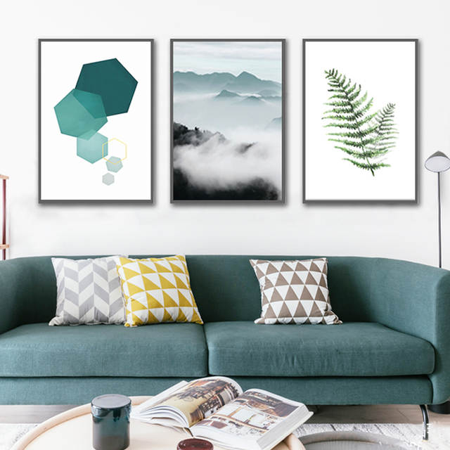 Online Shop Paesaggio astratto Geometria Dipinti Su Tela Moderno ...