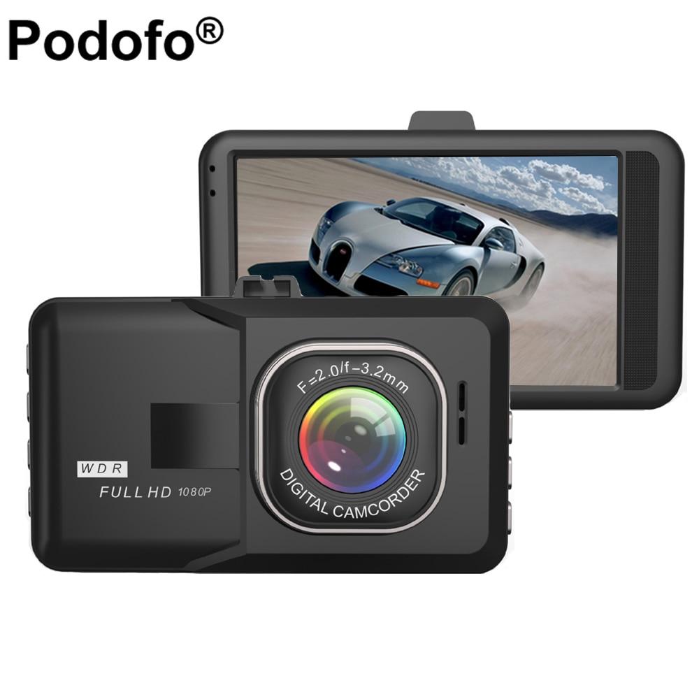 Podofo 3.0 Inch Car Dvr Full HD 1080P DVRs Registrar Car Camera Digital Video Camcorder Parking Recorder G-Sensor Dash Cam цена