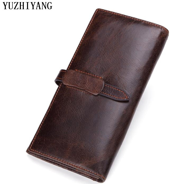 high quality man wallet leather with coin pocket fashion coffee wallet man with zipper small leather wallet business man wallets
