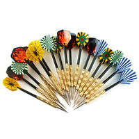 18pcs Lot Steel Copper Needle Tip Dart Darts With Nice Flight Flights Throwing Toy Free Shipping