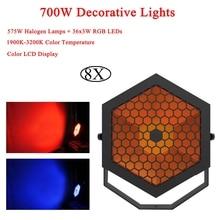 8Pcs/Lot Decorative Lights 700W Led Stage Lamp DJ KTV Disco Laser Light Party Lights Sound IR Remote Control Christmas Projector стоимость