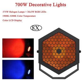 8Pcs/Lot Decorative Lights 700W Led Stage Lamp DJ KTV Disco Laser Light Party Lights Sound IR Remote Control Christmas Projector цена 2017