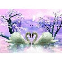 Diamond painting, 3D, Swan, diamond embroidery, 5D, DIY, cross stitch, mosaic, full set,