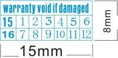 1000 pcs lote azul garantia adesivo etiqueta de selagem vazio se o danificado com anos e