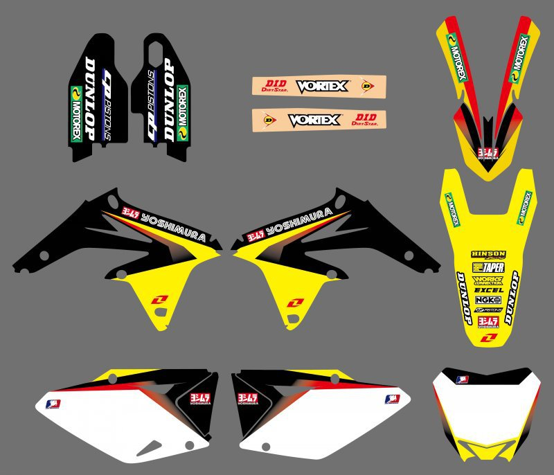 NEW TEAM DECALS STICKERS Graphics FOR Suzuki RMZ450 RM-Z 450 RMZ 450 2008 2009 2010 2011 2012 2013 2014 2015 2016 2017