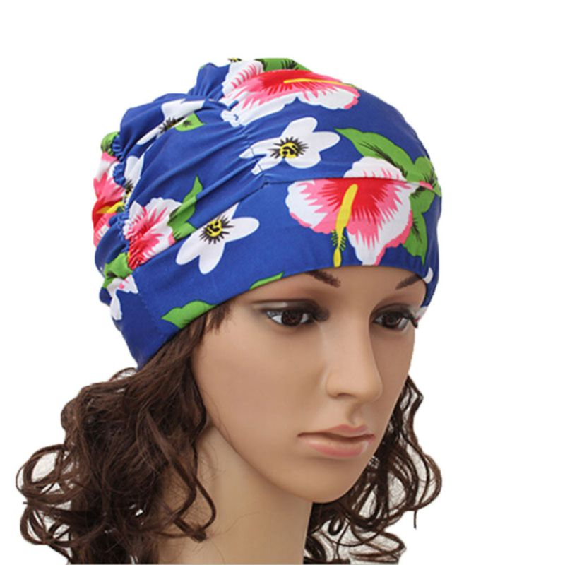 Fashion Women Soft Comfortable Bathing Hat Flexible Nylon Lycra Elastic