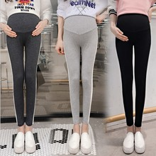 Spring Autumn New Fashion Casual Maternity Legging Stretch Pants For Pregnant Woman Summer Elastic Waist Belly Pregnancy Clothes cheap WOMEN skinny NONE 100023 COTTON sponge mice Natural Color Broadcloth Black Dark Grey Light Grey M L XL XXL spring autumn summer