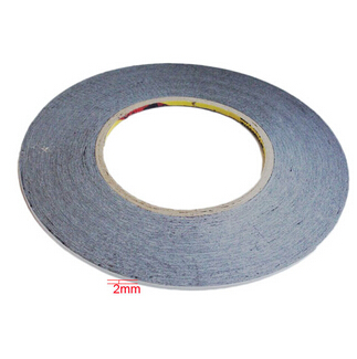 2mm*50m 3M Double Sided Adhesive Black Tape for Mobile Phone Touch Screen/LCD/Display Glass Repair