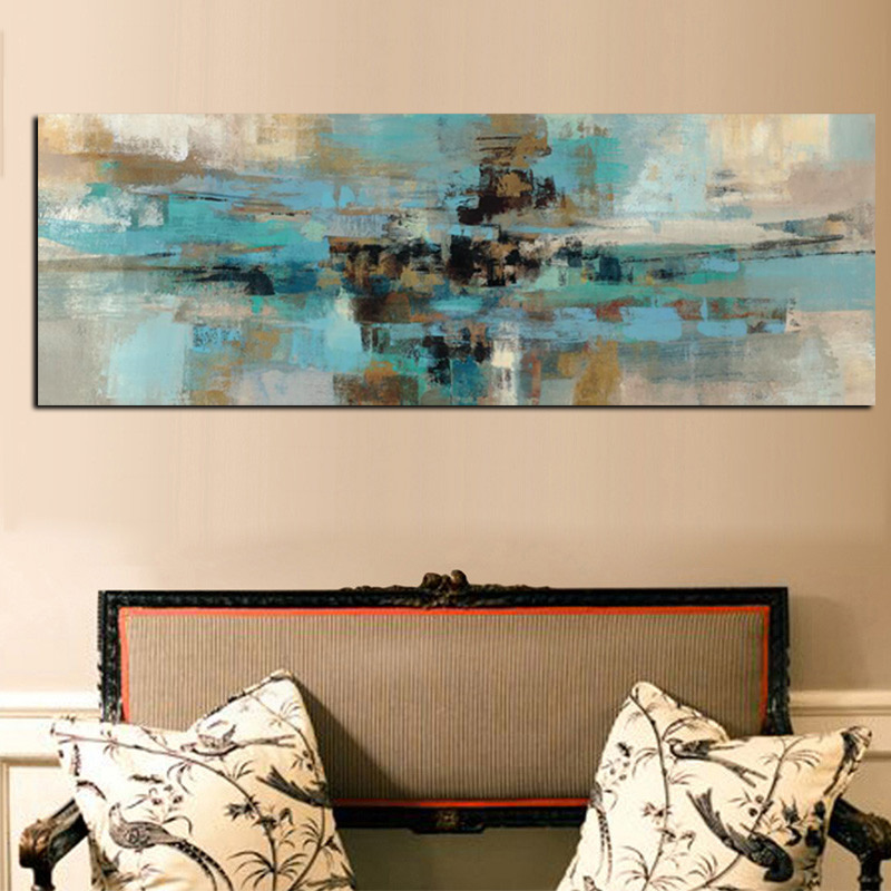 Mega Sale 8555 Light Blue Canvas Painting Posters And