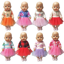 "For 43cm Doll Dress for 18"" american girl Doll unicorn dress baby dolls clothes children new year gifts(China)"