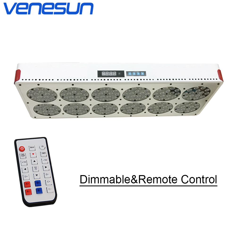 Apollo 12 LED Grow Light Dimmable Remote Control Full Spectrum Venesun Plant Grow Lamps For Indoor Plant Hydroponic Greenhouse