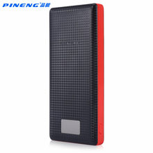 Original Pineng Power Bank 20000mAh PN-969 External Battery Pack Powerbank 5V 2.1A Dual USB Output for Android Phones Tablets