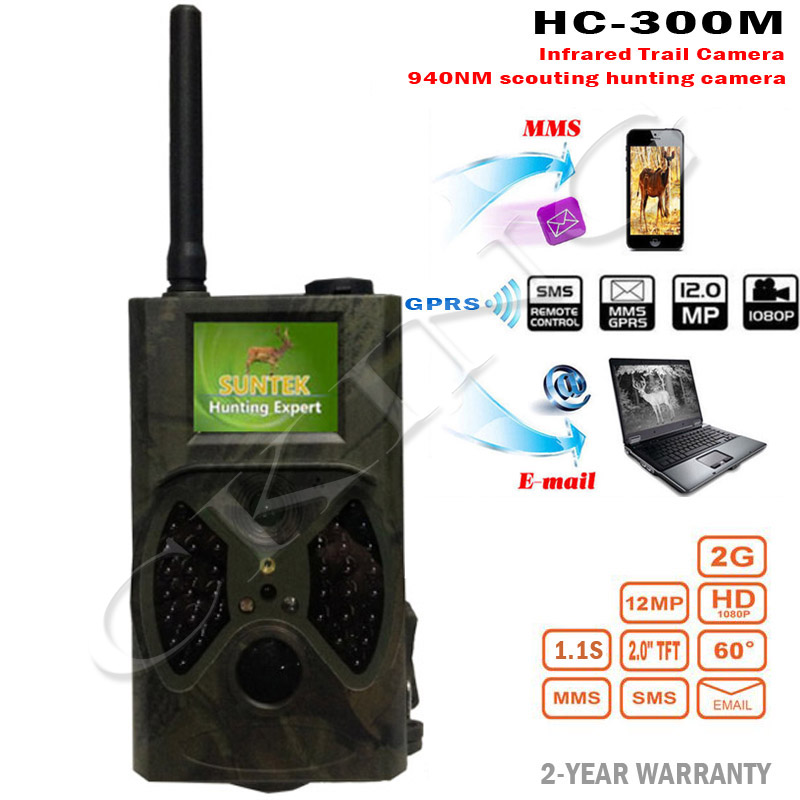 Suntek HC300M Hunting Camera HC-300M Full HD 12MP 1080P Video Night Vision MMS GPRS Scouting Infrared Game Hunter Trail Camera skatolly 3pcs lot hc300m full hd 12mp 1080p video night vision huting camera mms gprs scouting infrared game hunter trail camera