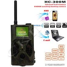 Suntek HC300M Cámara Caza HC-300M 12MP Full HD 1080 P de Visión Nocturna de Vídeo MMS GPRS cámara de Exploración Infrarroja Del Juego Hunter Trail cámara