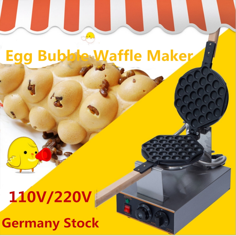 Commercial Electric Egg Puff Waffle Maker Muffin Machine Egg Waffle Machine Egg Bubble Waffle Maker Eggettes Puff Maker 110v 220v electric non stick hongkong eggettes egg puff bubble waffle egg waffle maker rotated 180 degree