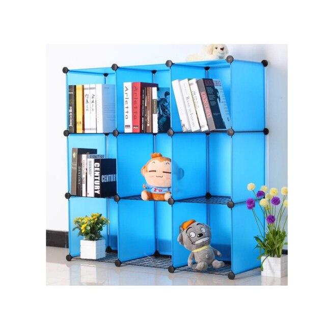 LF Sxsounai 9 grids Cute toy bookshelf wardrobe plastic Resin magic DIY environmental storage box toy rack simple Bedroom 2018 3