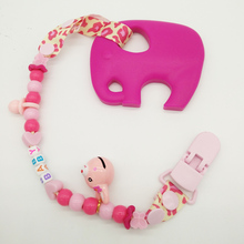 Safe Food Grade Silicone Teether Elephant High Quality Teething Baby Toys Teeth Baby Animal Massager Toys For Babies Pacifier