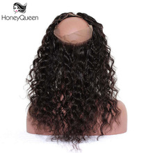 360 Lace Frontal Closure Pre Plucked Brazilian Remy Hair 100% Human Hair Loose Wave Bleached Knots With Baby Hair Free Part