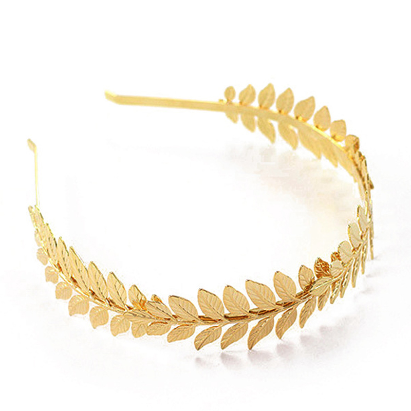 US $1 31 34% OFF Baroque Wedding Western Hair Accessories Vintage Gold Leaf  Headband Metal Leaves Hairband Tiara Headpiece Head Jewelry For Women-in