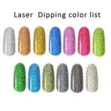 13 Colors Laser Dipping Powder Hologra 10ML Gradient French Glitter Nail Art Dip With Brush on Lamp Fast Dry FA46
