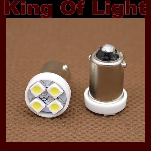 100X Car Auto LED G14 H6W T4W BA9S 4smd Ba9s 4 led smd 3528 1210 Wedge LED reading clearanace Bulb Lamp Free shipping