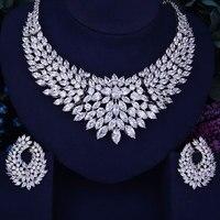 GODKI Luxury Feather Women Nigerian Wedding Engagement Cubic Zirconia Necklace Dubai 2PCS Jewelry Set Jewellery Addiction