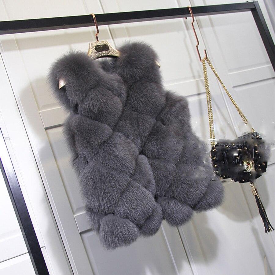 2017 hiver plus la taille fausse fourrure gilet sans. Black Bedroom Furniture Sets. Home Design Ideas