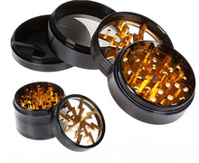 Transparent open sunroof Lightning grinder Diameter 63MM Four-layer aluminum alloy Metal grinders
