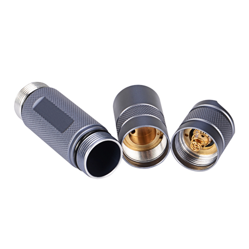 For Convoy Aluminum Alloy S2+ Gray Flashlight Host DIY LED Flashlight Shell  Host