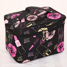 Fashion Portable Large Capacity Satin Cosmetic Bag Cartoon Storage Waterproof Wash