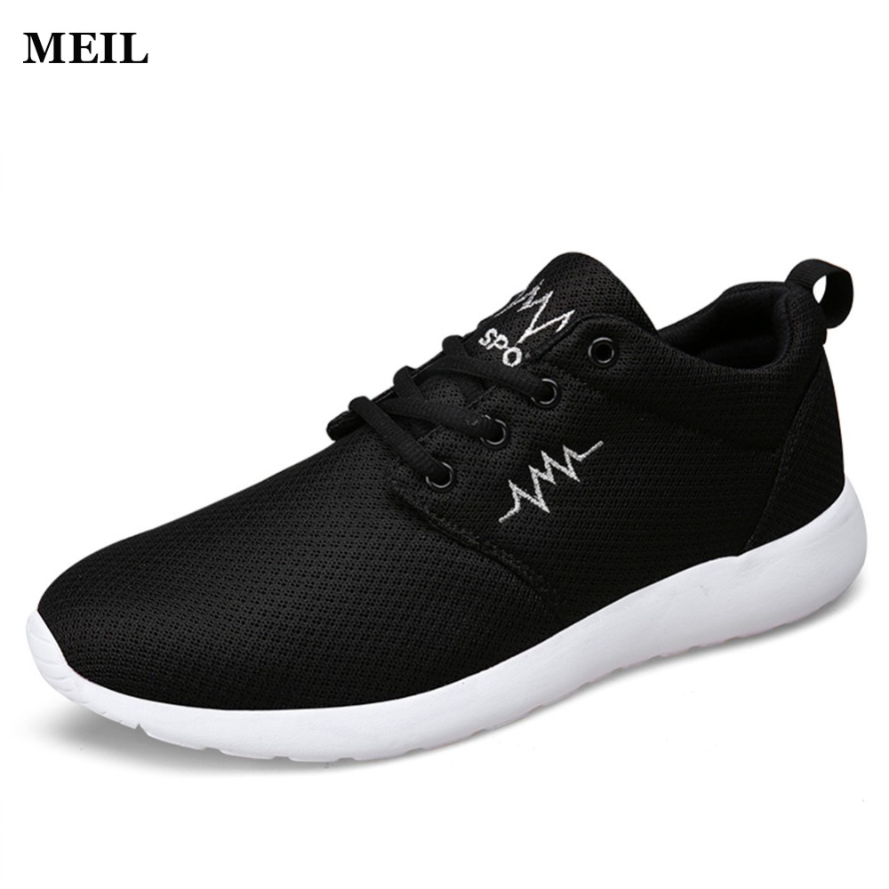 2017 Fashion Men Shoes Summer Light weight Breathable Lace up Casual Shoes Big Size 39-44 pair of trendy pure color hollow out longevity pattern earrings for women