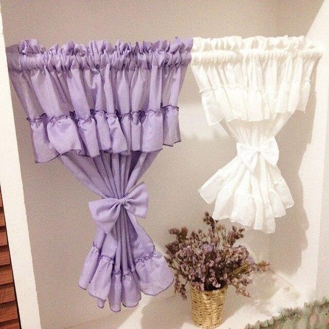 Aliexpress.com : Buy Purple white door curtains tulle short ...